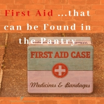 https://sagebrushhomesteading.blog/2019/05/01/first-aid-from-the-pantry-and-other-items-to-keep-on-hand/